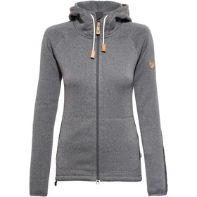 Fjällräven Övik Fleece Hoodie Dames, dark grey